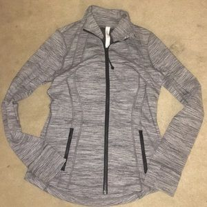 Lululemon Zip Up Jacket Heathered Grey